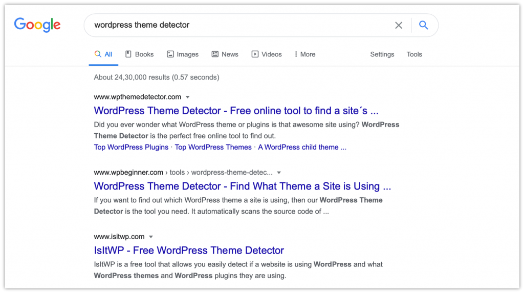 WordPress Theme Detector – Know What Theme a Site is Using 2