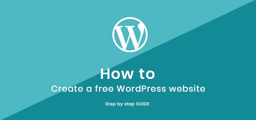 how to create free wordpress website