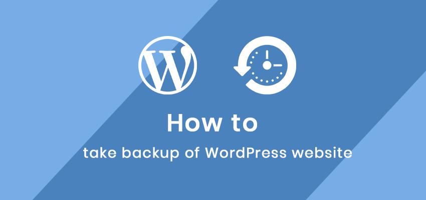 how to take backup of wordpress site