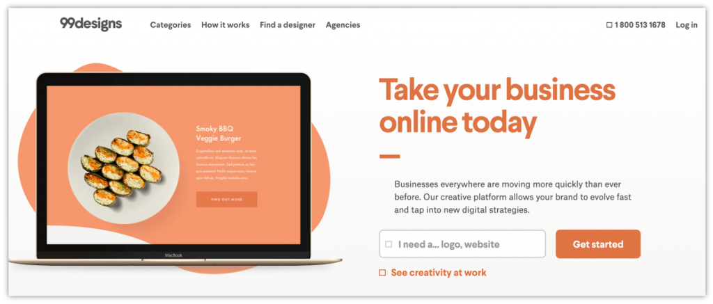 99Designs is the freelance website