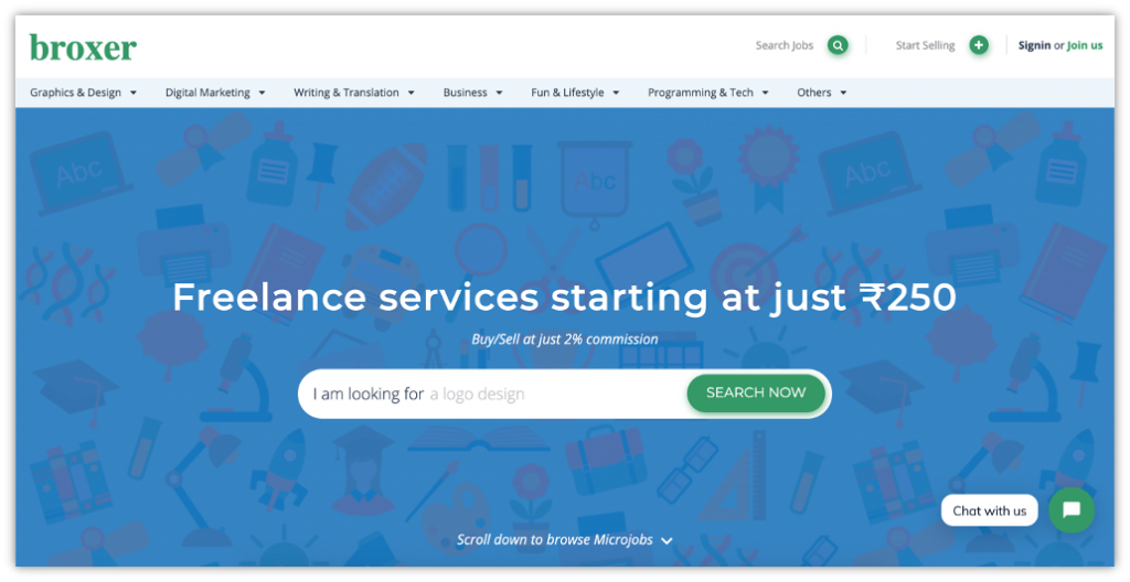 use Broxer to hire a freelancer