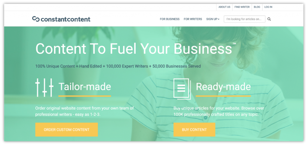 use ConstantContent to hire content writers