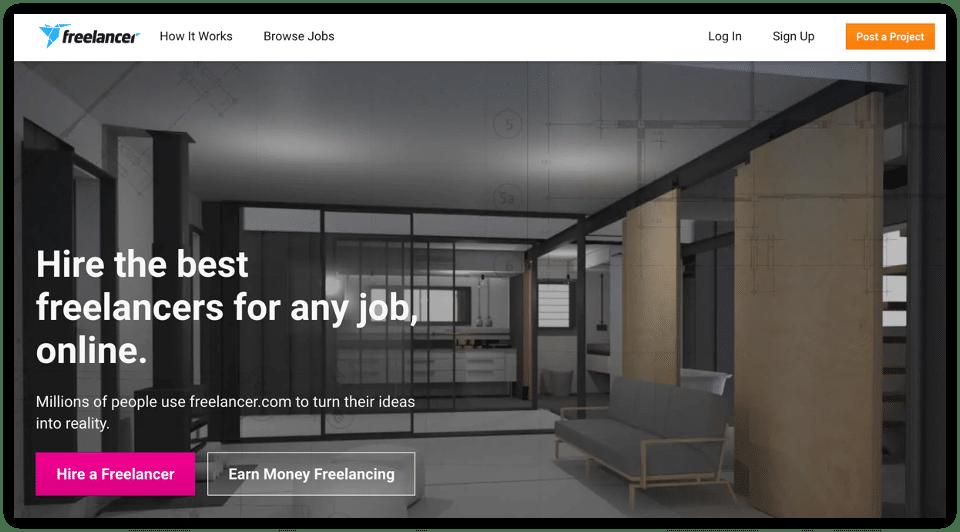 use freelancer to hire a freelancer