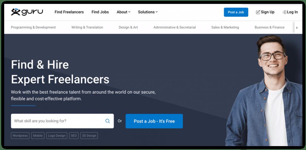 use Guru to hire a freelancer
