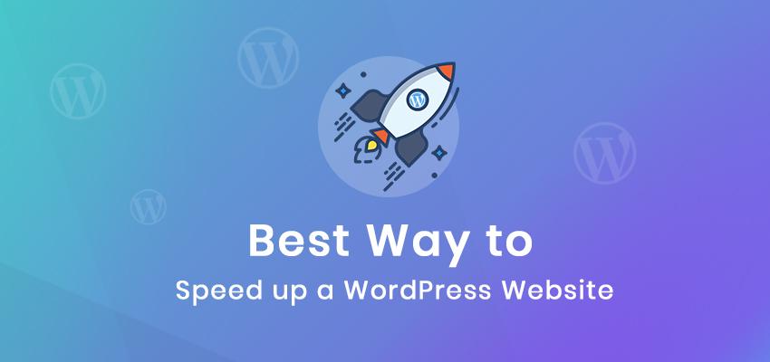 speed up a wordpress site