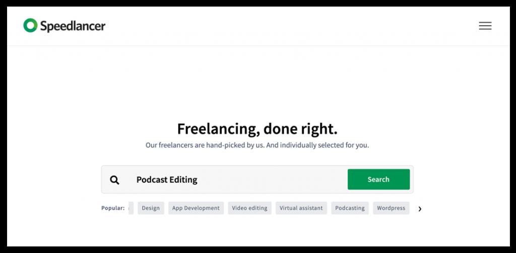 use Speedlancer to hire a freelancer