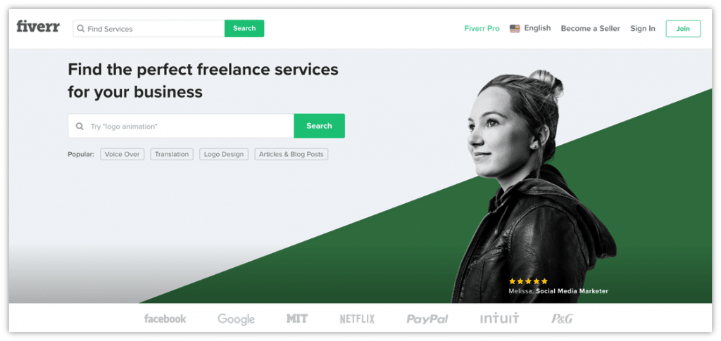 use Fiverr to hire a freelancer