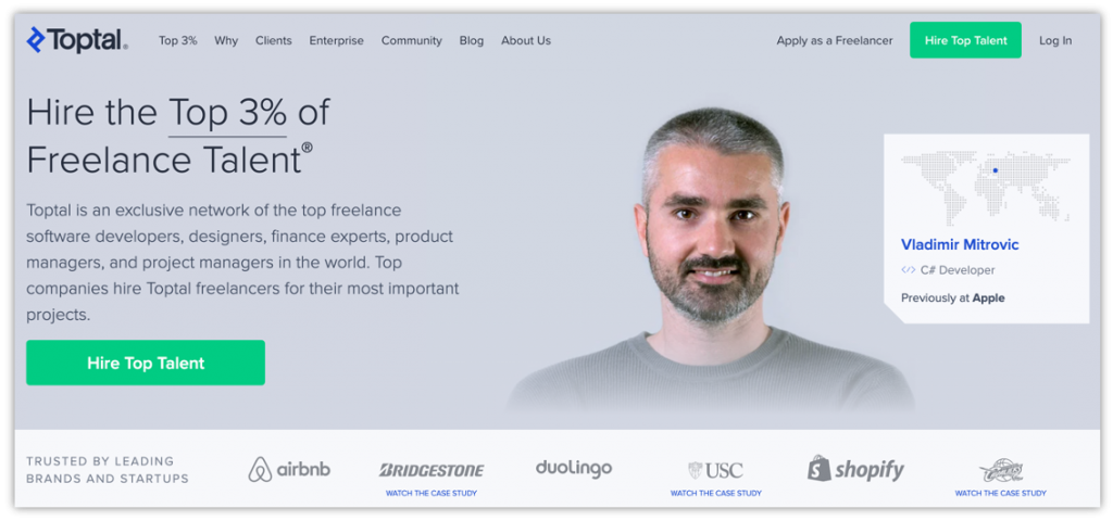 use Toptal to hire a freelancer