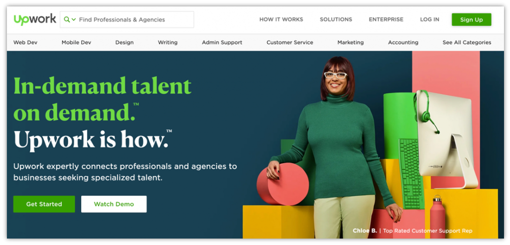 use Upwork to hire a freelancer