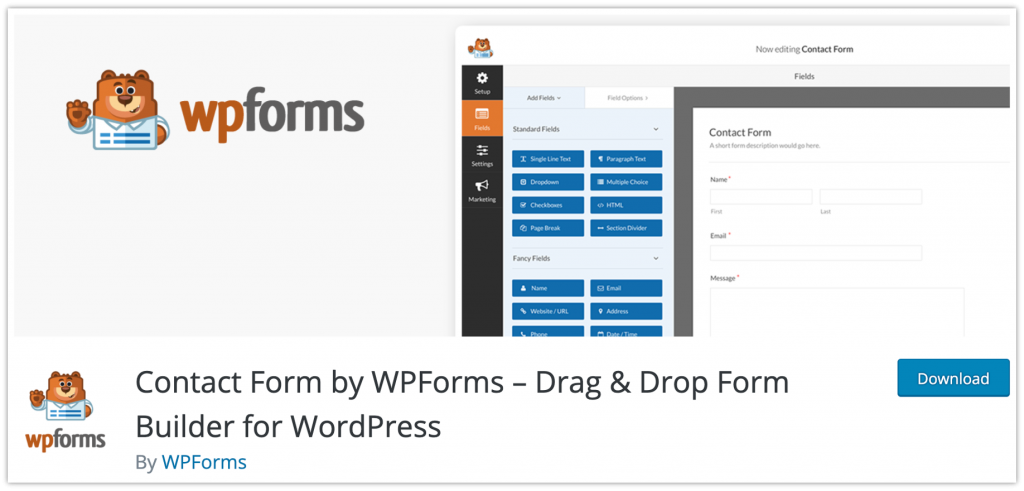 one of the WordPress contact form plugins