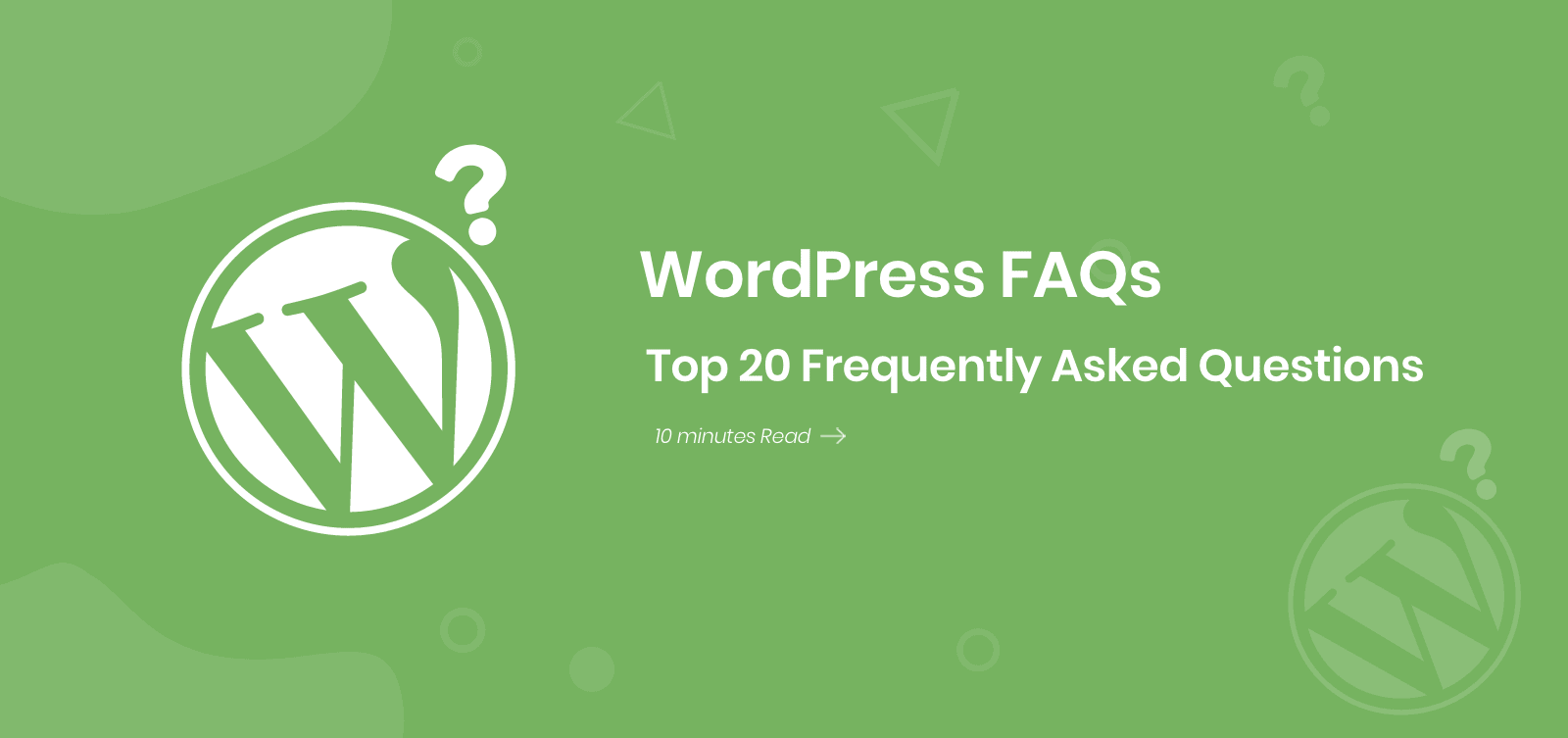top 20 WordPress FAQs