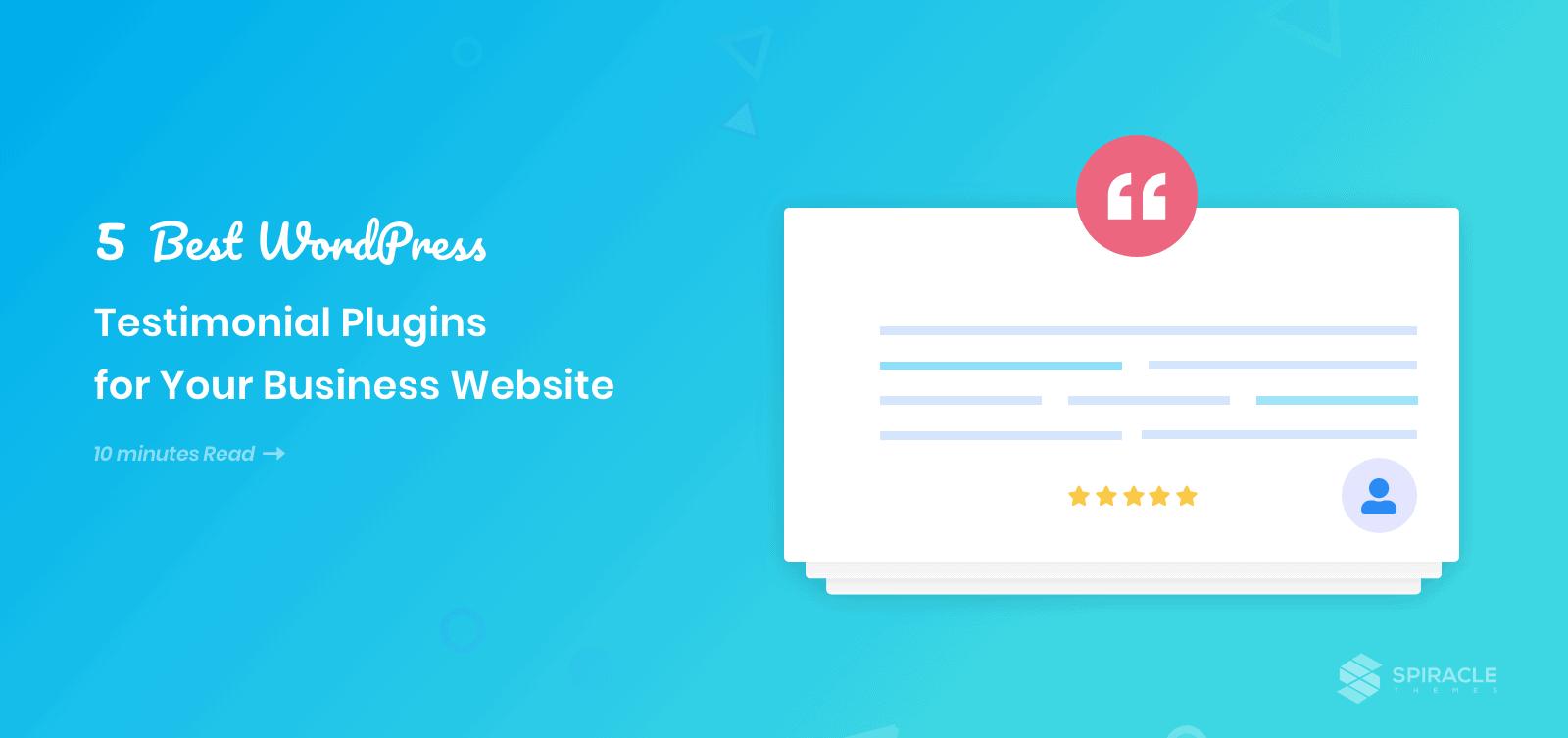 best 5 WordPress testimonials plugins
