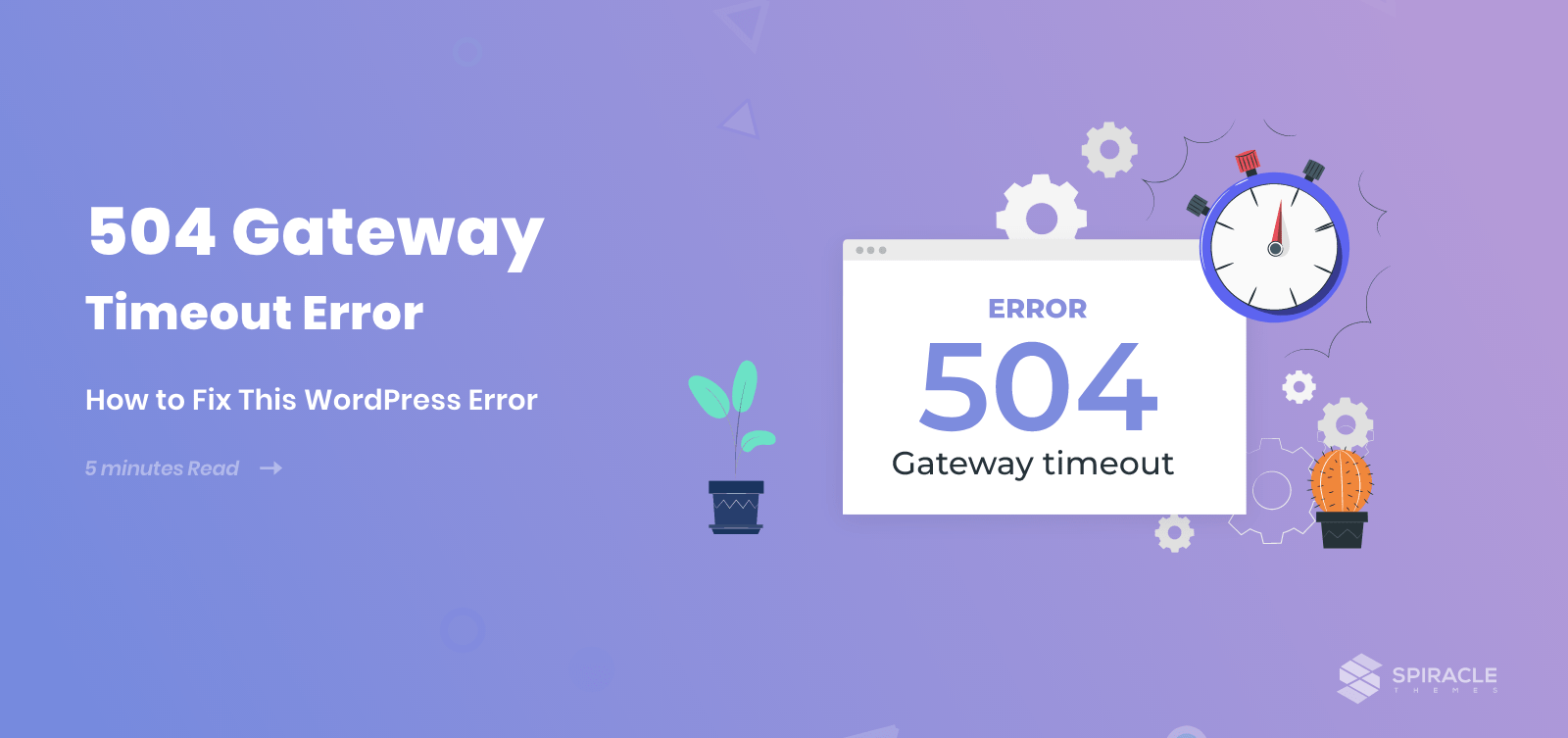 504 gateway timeout error in WordPress