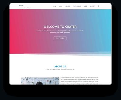 Crater Free WordPress Theme 1