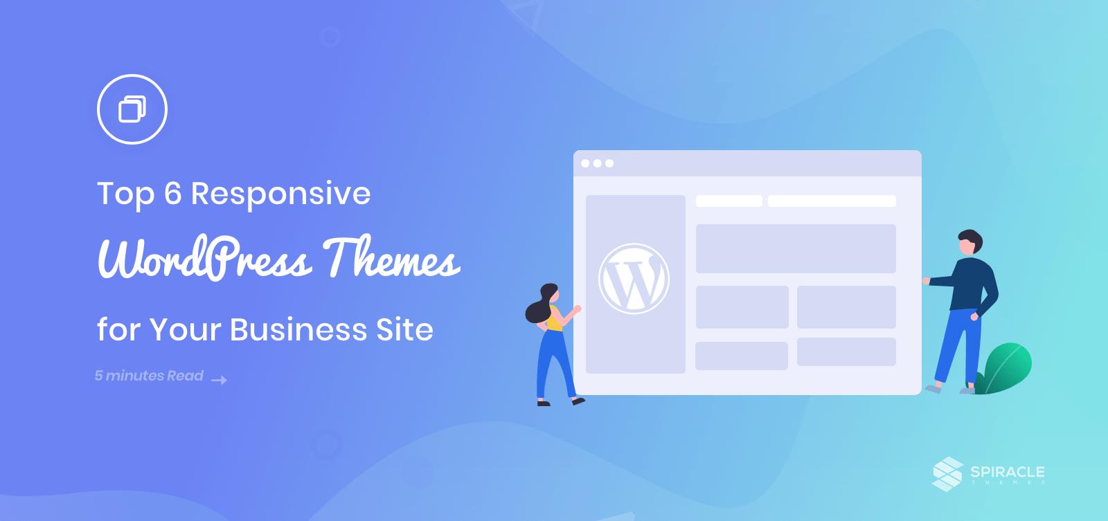 top 6 responsive WordPress themes