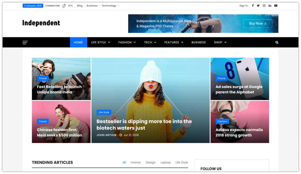 Top 5 WordPress Magazine Themes You Must Try in 2021 3