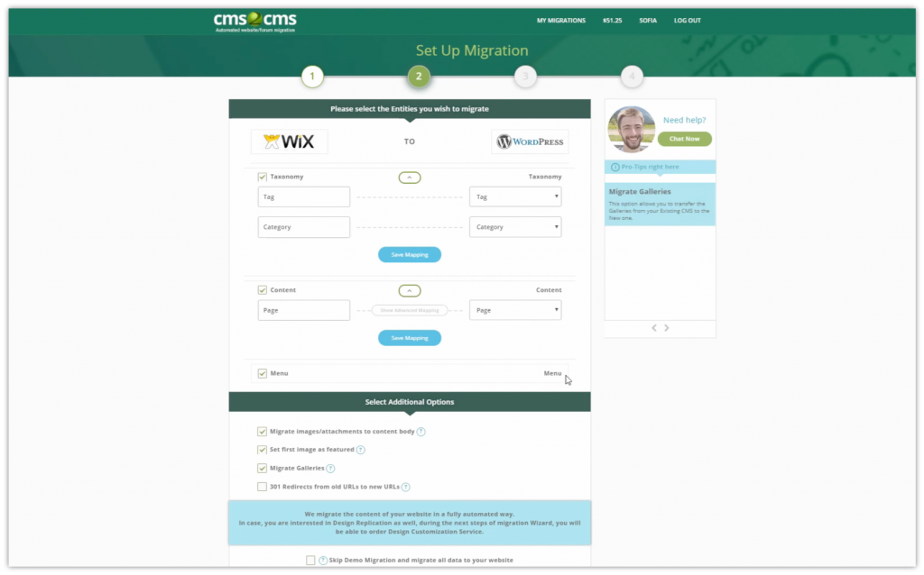 How to Migrate Website to WordPress using CMS2CMS Plugin 9