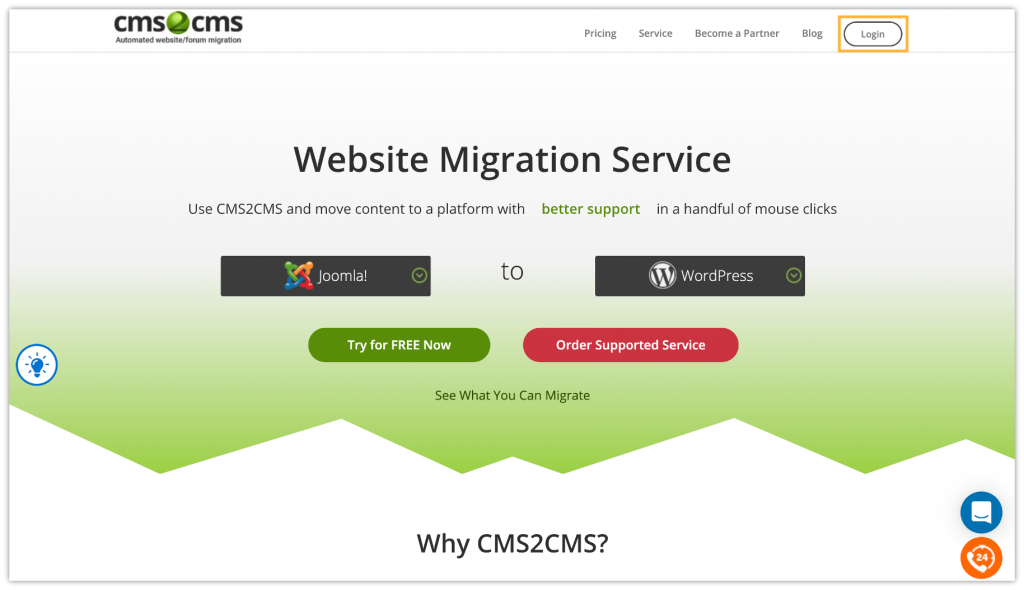 How to Migrate Website to WordPress using CMS2CMS Plugin 1