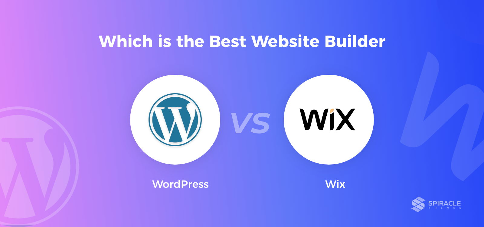 compare WordPress vs Wix website builder