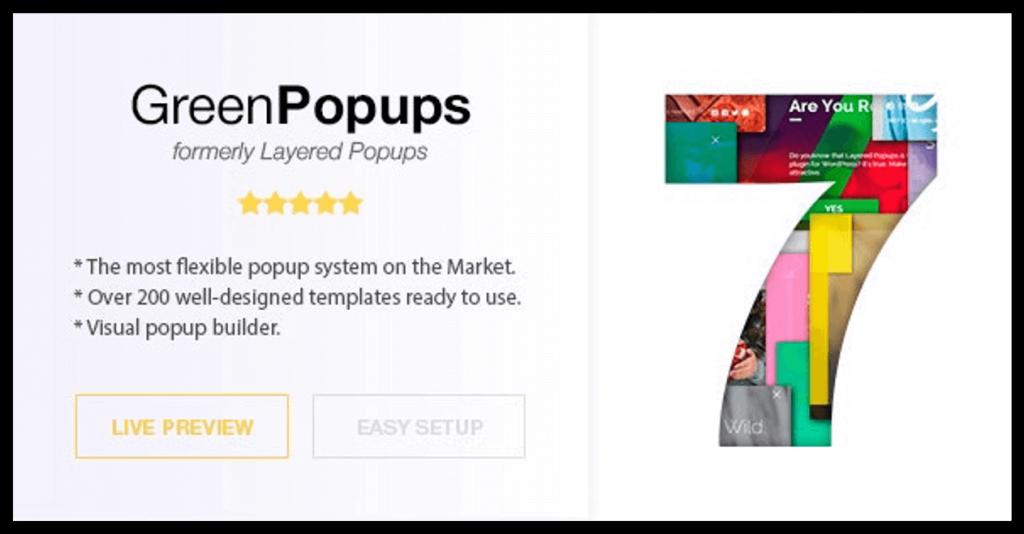 Green Popups Plugin