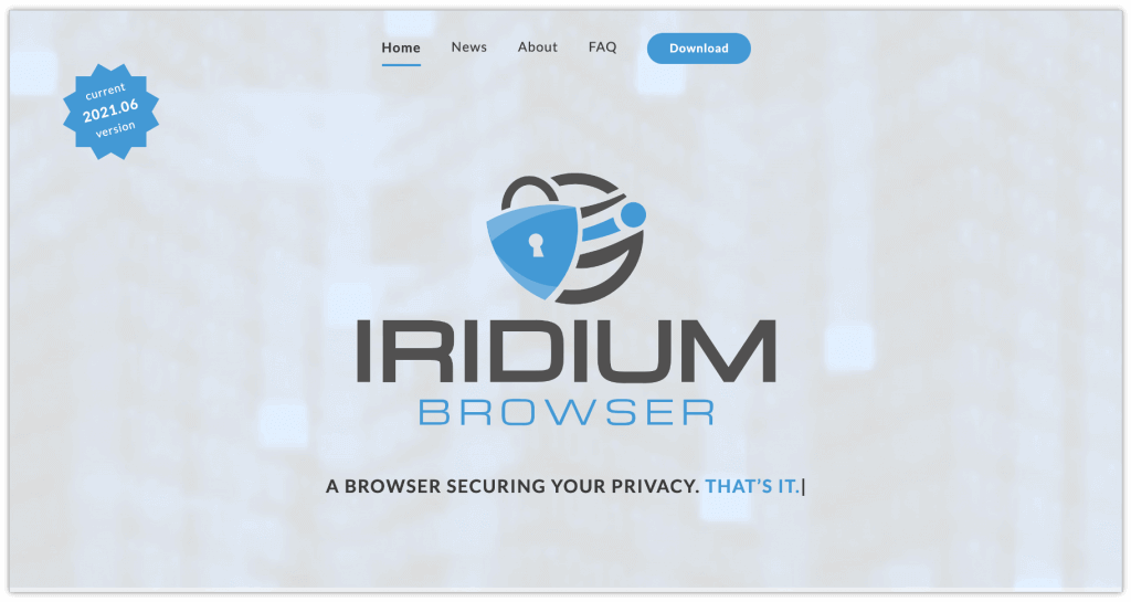 Iridium web browser