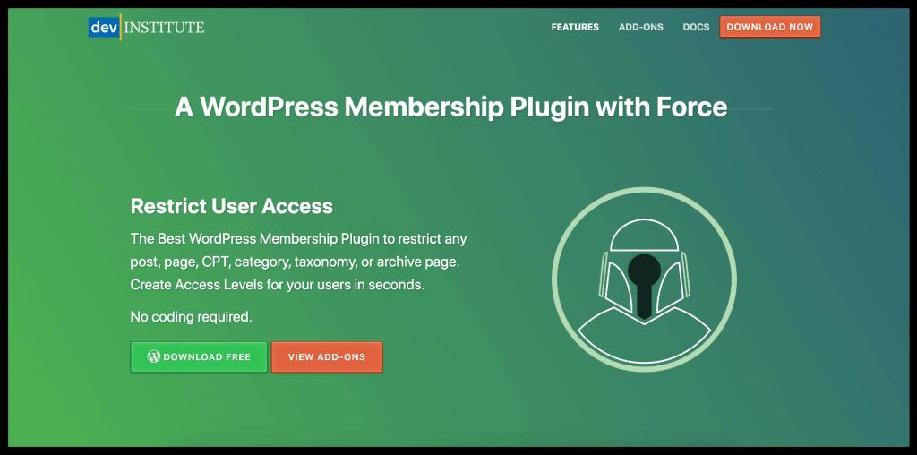 Restrict User Access Membership Plugin