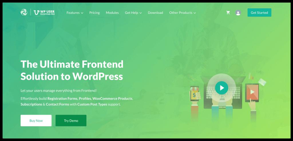WP User Frontend Plugin