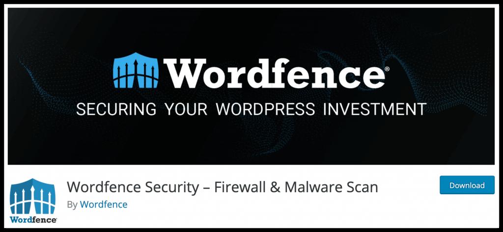 Wordfence security plugin for WordPress site