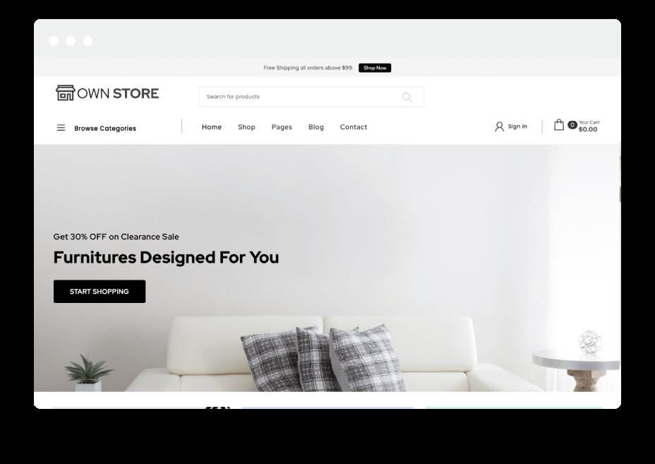 Own Store Free WordPress theme 2