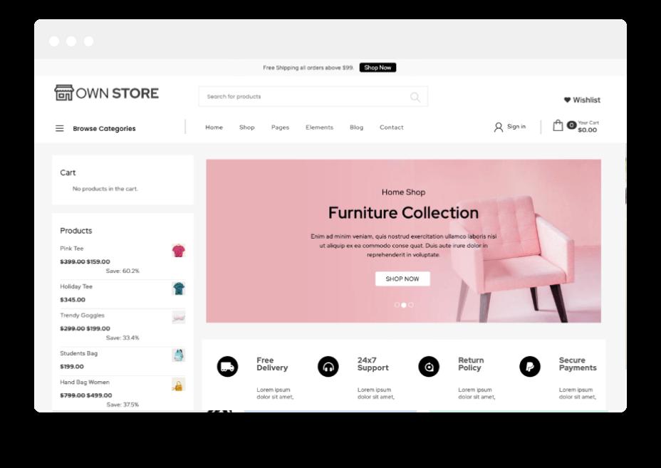 Own Store Free WordPress theme 3