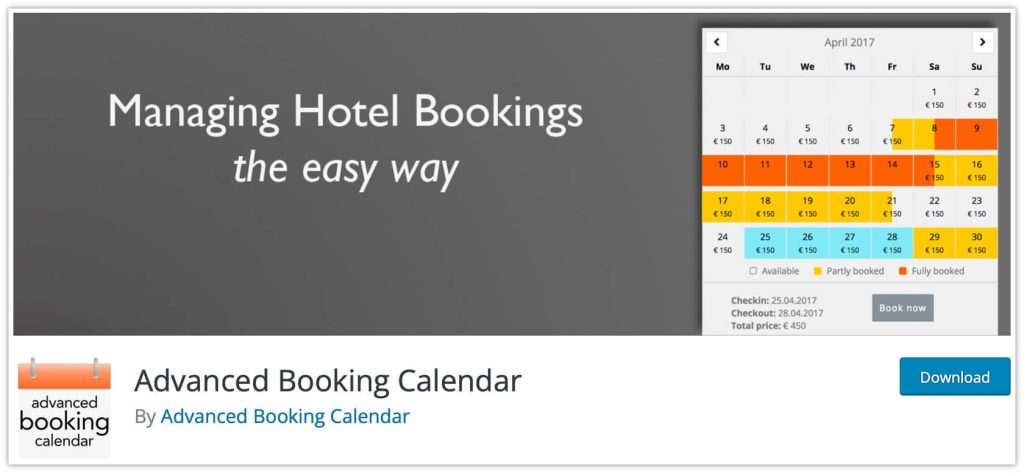 Advanced Booking Calendar Plugin