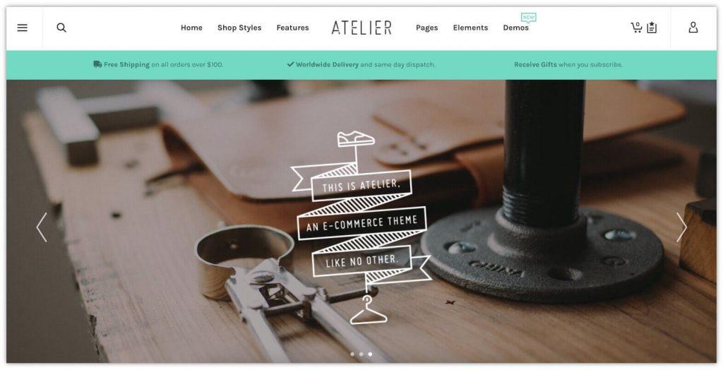 Atelier WooCommerce Theme by Swift Ideas