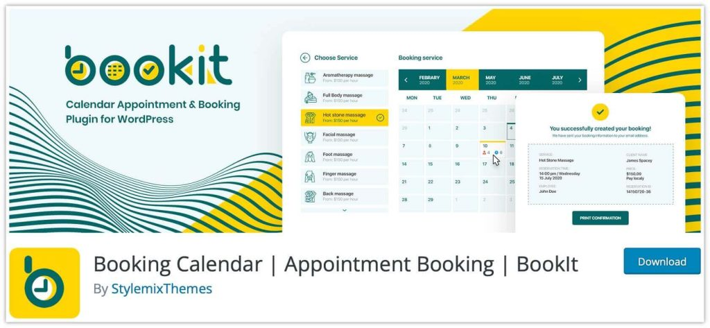 BookIt Appointment Calendar Plugin