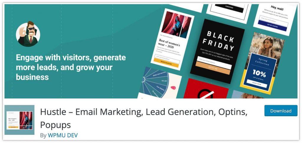 Hustle Marketing Plugin by WPMU DEV