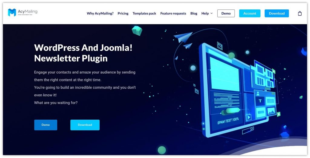 Newsletter for WordPress by AcyMailing