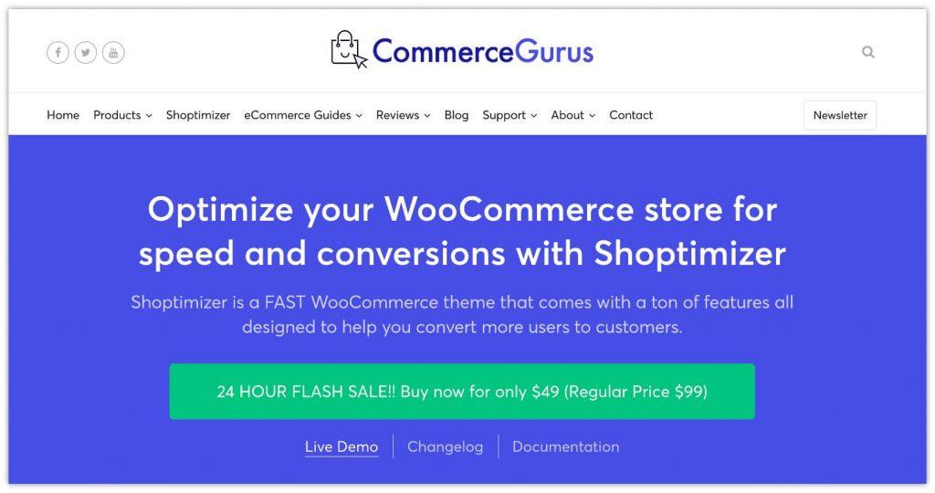 Shoptimizer WooCommerce Theme by CommerceGurus