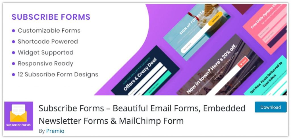 Subscribe Forms by Premio