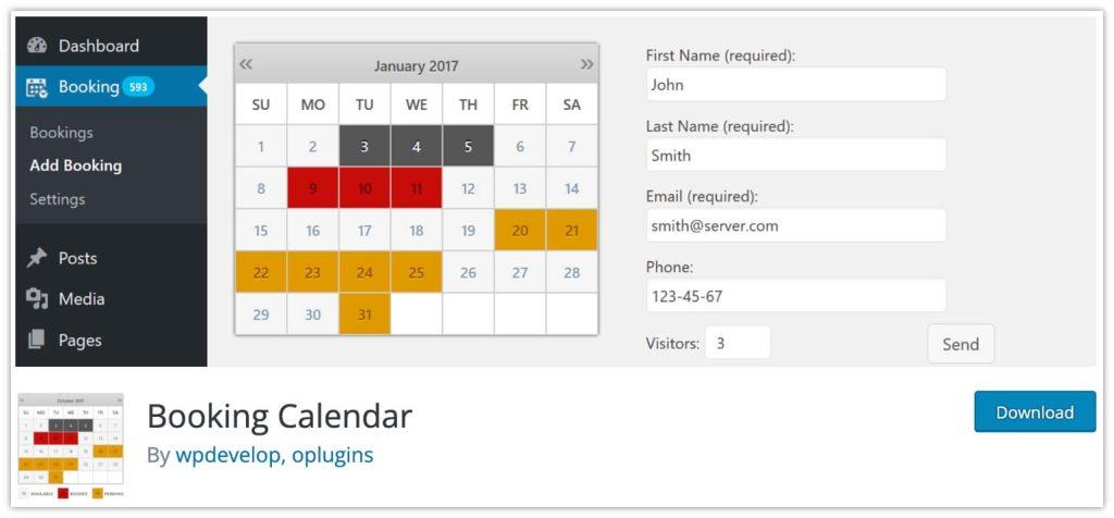 WP Booking Calendar Plugin