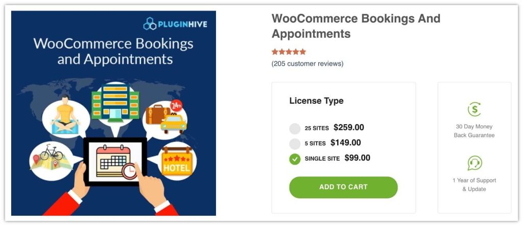 WooCommerce Bookings and Appointments by Pluginhive