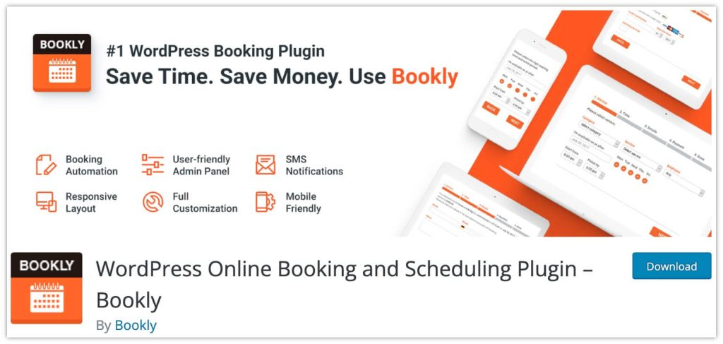 WordPress Online Booking and Scheduling Plugin by Bookly